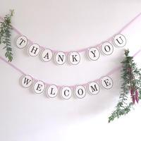 【2点セット】 WELCOME・THANK YOU  * Garland