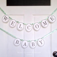 WELCOME BABY * Garland