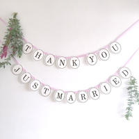 【2点セット】THANK YOU・JUST MARRIED  * Garland