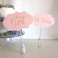 ベビーシャワー フォトプロップス * It's a Girl(PDFデータ)