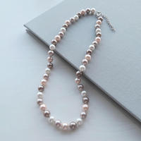 South Sea Shell Pearl Necklace / Pink beige 8mm