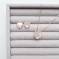 "Mother of Pearl ""Heart"" Necklace / ピアス"