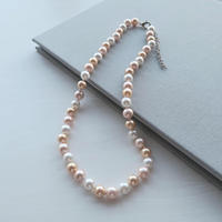 South Sea Shell Pearl Necklace / Champagne 8mm