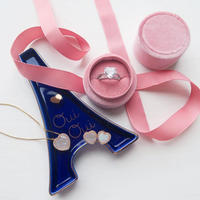 Pink Velvet Jewelry Box(リング用)