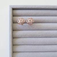 Honeycomb Clip Earring