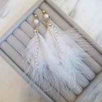 Pearl Feather ピアス