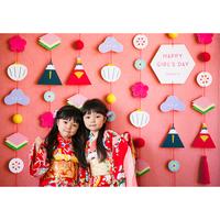 ◆ 数量・期間限定  おうち写真館 hinamatsuri momo *名入れ無し【Lサイズ:縦1030 × 横1456 mm】