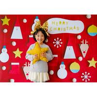 ◆数量&期間限定 おうち写真館 Santa & friends  RED Lサイズ(縦1030 × 横1456 mm)