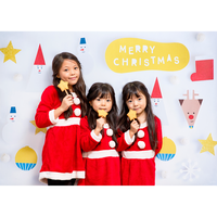 ◆数量&期間限定 おうち写真館 Santa & friends  WHITE Lサイズ(縦1030 × 横1456 mm)
