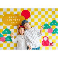 ◆数量&期間限定 おうち写真館 市松 Lサイズ(縦1030 × 横1456 mm)