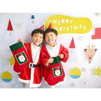 ★数量&期間限定 おうち写真館 Santa & friends  WHITE Mサイズ(縦841 × 横1189 mm)