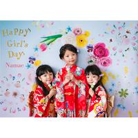 ◆ 数量・期間限定  おうち写真館 hinamatsuri  blossom *名入れあり【Lサイズ:縦1030 × 横1456 mm】