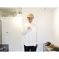 maillot / MATURE Stand A Line Shirt【ホワイト / 立ち襟】