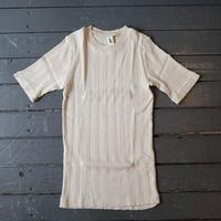 Ohh! オー!(レディース)/ コットンシルクランダム半袖Tシャツ