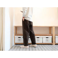 maillot マイヨ(ユニセックス) /マチュア cotton nel easy pantsコットンネルイージーパンツ【ブラウン/ブラック】