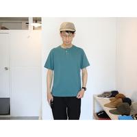 JACKMAN ジャックマン(ユニセックス)  / ヘンリーネック半袖Tシャツ 【米綿100%】
