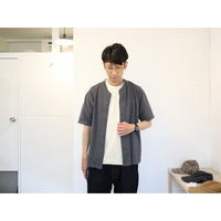 JACKMAN ジャックマン(ユニセックス)  / BB SHIRTS ベースボール半袖シャツ【ダークグレー / Mのみ】