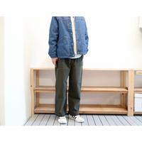 HATSKI(ユニセックス) /  アンカット2タックワイドトラウザー【オリーブ / 生成り】