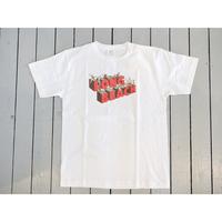 KHA;KI (レディース&メンズ) / 後加工プリントTシャツ【LONG BEACH & FRENDS / ホワイト・ブラック】