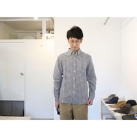 maillot (ユニセックス)  / SUNSET GINGHAM B.D SHIRTS サンセット 普通ギンガムBDシャツ (ブラック×ホワイト)