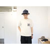JACKMAN ジャックマン(ユニセックス)  / リブ半袖Tシャツ【Hロゴ / 生成り】