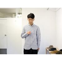 maillot (ユニセックス)  / SUNSETSTRIPE WORK SHIRTS サンセットワークシャツ 【ストライプ/ ブルー×ホワイト】