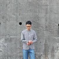 maillot (ユニセックス)  / SUNSET BIG GINGHAM WORK SHIRTS サンセットビッグギンガムワークシャツ