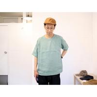 maillot  マイヨ (ユニセックス)  / LINEN POCKET SHIRT TEE リネンポケット半袖Tシャツ【サイズ2,3のみ】