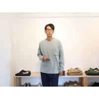 JACKMAN ジャックマン(ユニセックス)/ ポケット長袖Tシャツ【ダスクブルー / 生成り / サイズ M , L 】