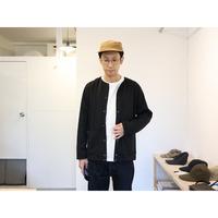 JACKMAN / JERSEY COLLARLES JKT ジャージーカラーレスジャケット【ブラック】
