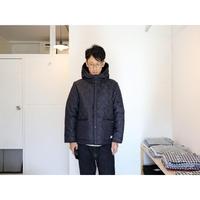 ARMEN アーメン (ユニセックス) / キルティング リバーシブルフーデッドジャケット 【ネイビー / サイズ0と2】