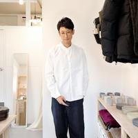 MUYA / STAND COLLAR SHIRT【ホワイト】