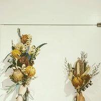 お得な2個セット!おしゃれなドライフラワーの花束 イベントの飾りなどにも