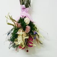 【華やか!】!バラとドライフラワーのかわいいインテリア おしゃれで大人っぽいスワッグ プレゼントにもおすすめ!セミオーダー、DIY可能!