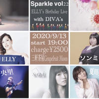 【応援商品・特典映像付※後日URL送信】9/13 sparkle vol22 〜ELLY's Birthday Live with DIVA's〜 【online Live】