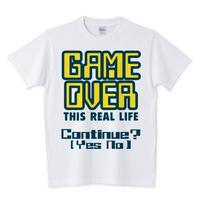 GAME OVER(オリジナルデザインTシャツ)
