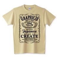 ジャックダニエル風Graphic28ロゴTシャツ(バーボン、アメリカン、ロック、バンド、)