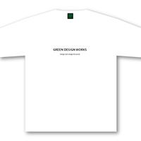 GREEN DESIGN WORKS ロゴT (生地色:白/ロゴ色:黒)