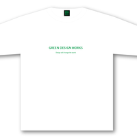 GREEN DESIGN WORKS ロゴT (生地色:白/ロゴ色:緑)