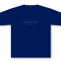 GREEN DESIGN WORKS ロゴT(生地色:ナイトブルー/ロゴ色:緑)