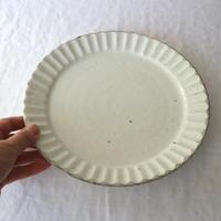 粉引縞8寸皿/ 加藤仁志