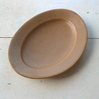 オーバル皿Mサイズ・ベージュ /    Awabi ware