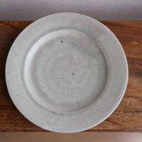 リム皿L(彩白陶) /  小林徹也