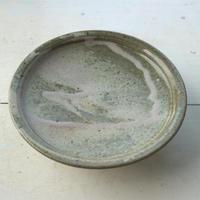 灰釉6.5寸台皿  /  高木剛
