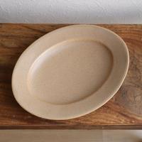 オーバル皿Mサイズ・ベージュ /   あわびウェア