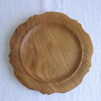 木製輪花皿(クリ)/     柳弘之