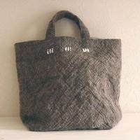手紡ぎ手織りバッグ(ブラウン)ロムニー / クウプノオト