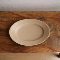 オーバル皿Sサイズ・ベージュ /      あわびウェア