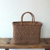 山葡萄三つ編み絞り桝網代かご(予約) / 竹内彰
