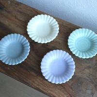 ひまわり豆皿 マット カラー/  あわびウェア